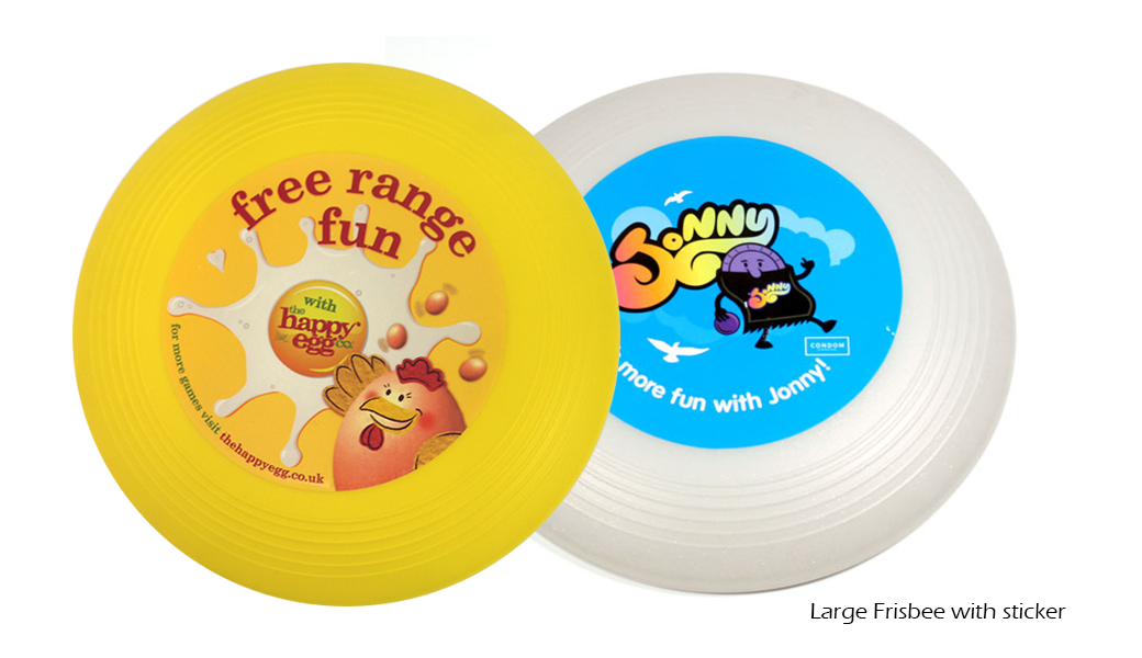 Large Frisbee with sticker